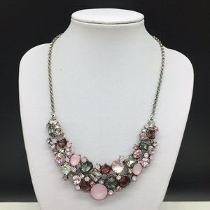 Premier Designs Pink & Clear Rhinestone Necklace